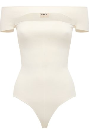Khaite Talie Viscose Knit Bodysuit