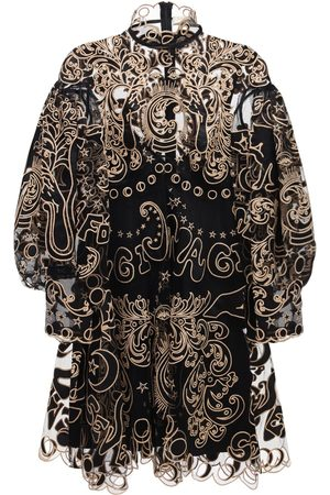 ZIMMERMANN Ladybeetle Ruffled Silk Blend Mini Dress