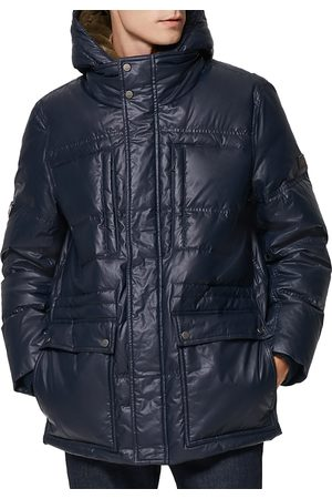 Andrew Marc Men Puffer Jackets - Kincaid Coated Down Puffer Coat