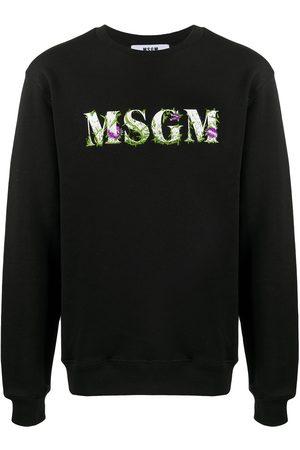 Msgm Floral logo-print sweatshirt