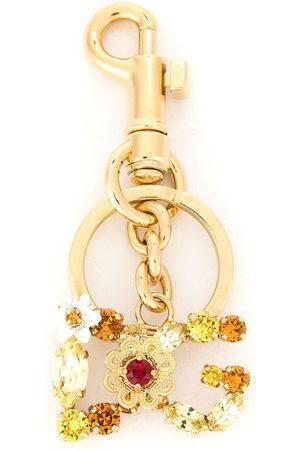 Dolce & Gabbana Embellished DG keyring - Metallic