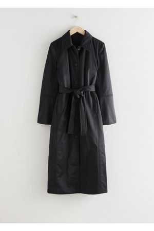 & OTHER STORIES Fitted Belted Padded Coat