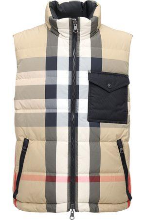 Burberry Men Gilets - Romford Check Print Tech Down Vest
