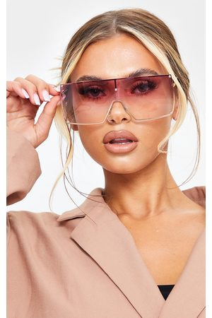 PRETTYLITTLETHING Women Square - Ombre Oversized Square Frame Sunglasses