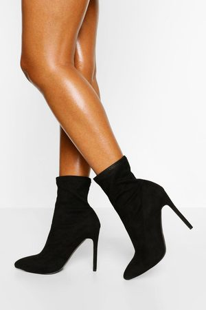 Boohoo Womens Wide Fit Stiletto Pointed Sock Boot - - 5