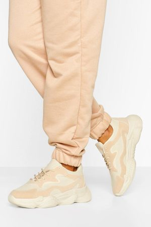 Boohoo Womens Wide Fit Chunky Sole Sneakers - - 5