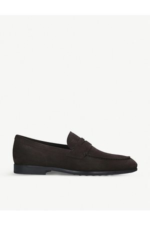 Tod's Men Loafers - Gomma suede penny loafers