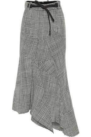 Tom Ford Asymmetric houndstooth virgin wool skirt
