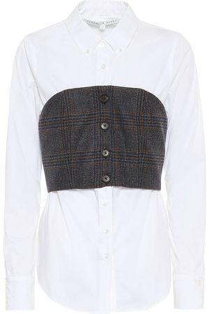 VERONICA BEARD Mika cotton poplin shirt