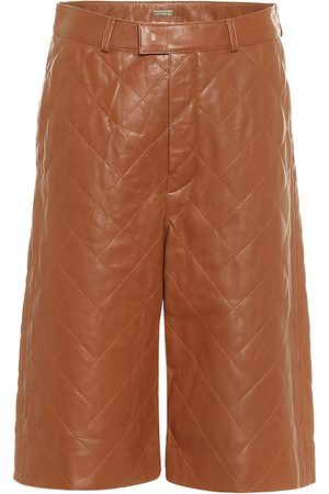 DODO BAR OR Quilted leather Bermuda shorts