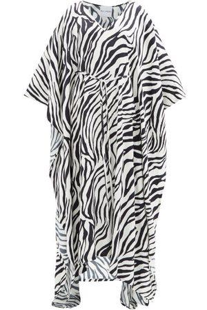 HALPERN Zebra-print Crepe Kaftan - Womens