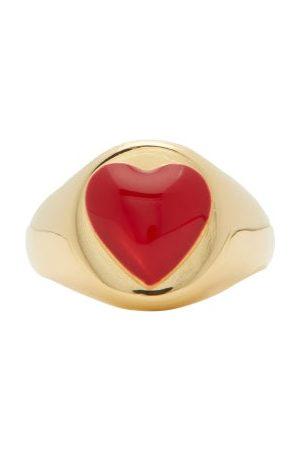WILHELMINA GARCIA Women Rings - Heart Enamel & -vermeil Signet Ring - Womens