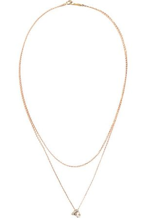Mizuki Diamond, Topaz & 14kt Gold Necklace - Womens - Crystal