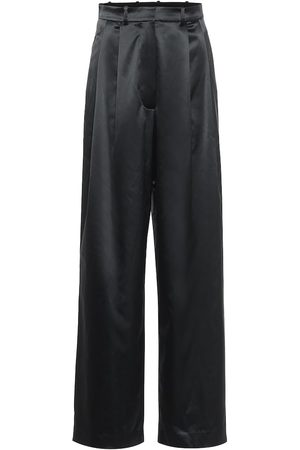 DODO BAR OR High-rise wide-leg satin pants