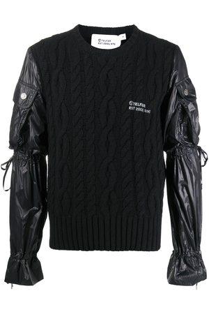 TELFAR Cable-knit panelled jumper