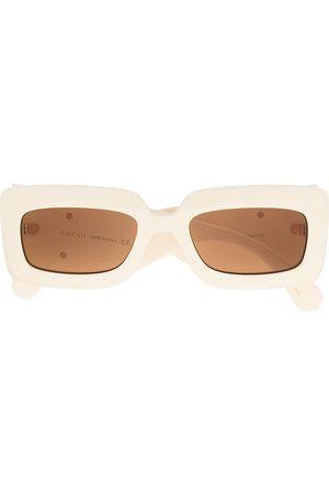 Gucci Women Square - Oversized square sunglasses - Neutrals