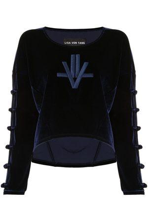 Lisa Von Tang Embroidered velour jumper
