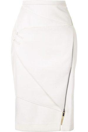 Lisa Von Tang Panelled pencil skirt