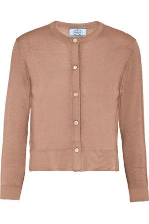 Prada Women Cardigans - Buttoned long-sleeve cardigan