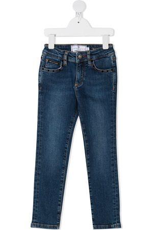Philipp Plein Girls Slim - Hexagon-logo slim fit jeans