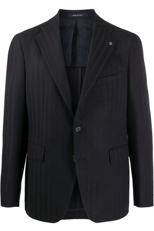 TAGLIATORE Herringbone single-breasted blazer