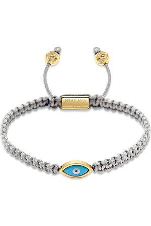 Nialaya Jewelry Men Bracelets - Gold plated eye weave bracelet