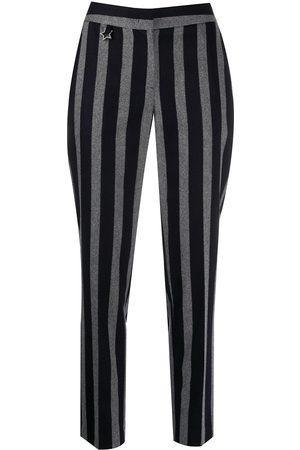 LORENA ANTONIAZZI Women Straight Leg Pants - Striped peg trousers