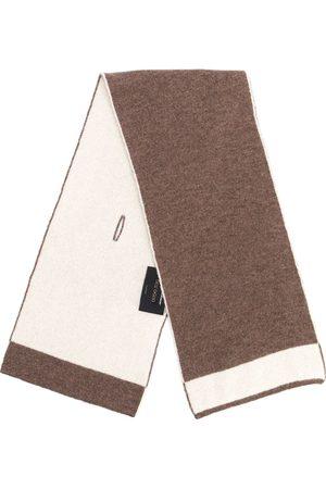 DELL'OGLIO Contrast-trim cashmere scarf - Neutrals