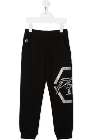 Philipp Plein Hexagon embellished track pants