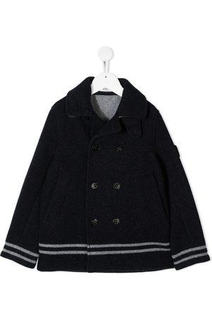 Stone Island Logo print wool jacket