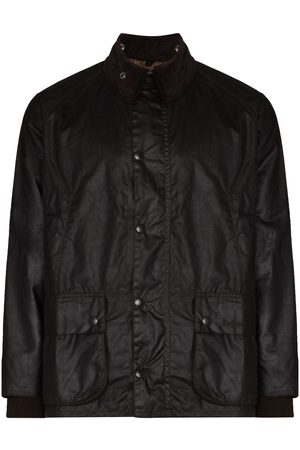 Barbour Faux-leather snap-button jacket