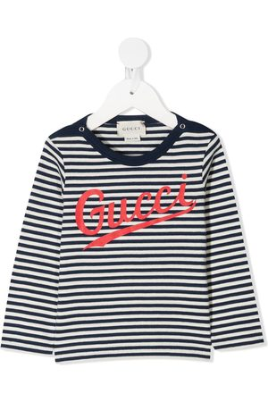 Gucci Striped logo-print T-shirt