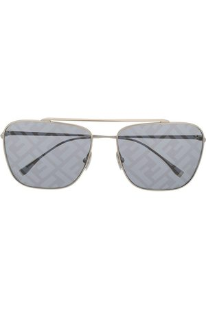 Fendi Logo lenses aviator sunglasses