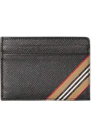 Burberry Icon-stripe grained cardholder