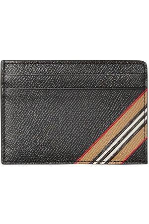 Burberry Men Wallets - Icon-stripe grained cardholder