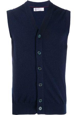 Brunello Cucinelli Cashmere sleeveless cardigan