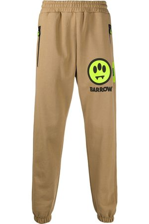 BARROW Men Sweatpants - Embroidered patch track pants
