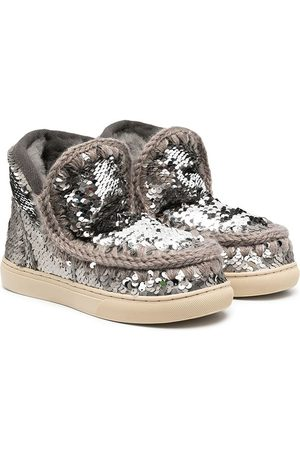 Mou Kids Girls Ankle Boots - Glitter-embellished boots