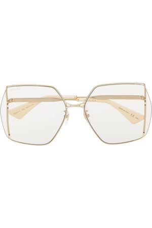 Gucci Oversized-frame tinted sunglasses - Neutrals