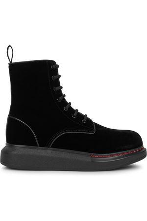 Alexander McQueen Women Ankle Boots - Hybrid velvet ankle boots