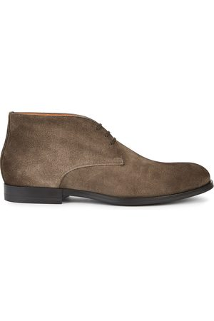 santoni Men Lace-up Boots - Newport suede desert boots