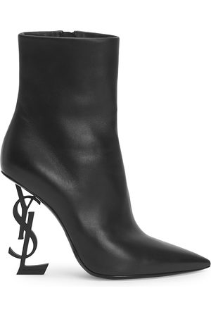 Saint Laurent Women's Opyum Leather Booties - - Size 36.5 (6.5)
