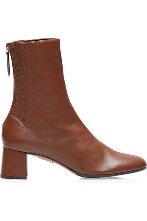 Aquazzura Women's Saint Honore Leather Ankle Boots - - Size 36 (6)