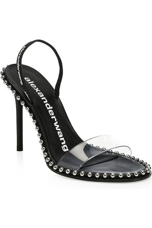 Alexander Wang Women's Nova Stud Stiletto Sandals - - Size 37 (7)