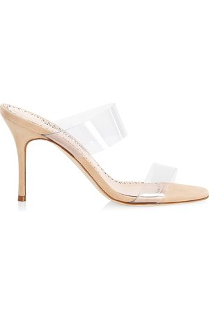 Manolo Blahnik Women's Scolto PVC Mules - - Size 41 (11)