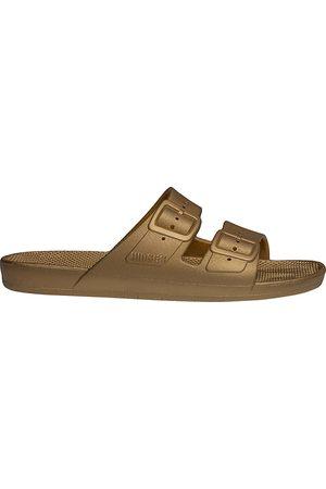 Freedom Moses Women's Metallic Plastic Pool Slides - - Size 37-38 (7-8) Sandals