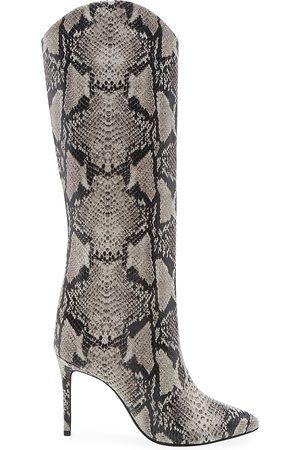 Schutz Women's Maryana Knee-High Snakeskin-Embossed Leather Boots
