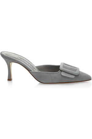 Manolo Blahnik Women's Maysale Suede Mules - - Size 41 (11)