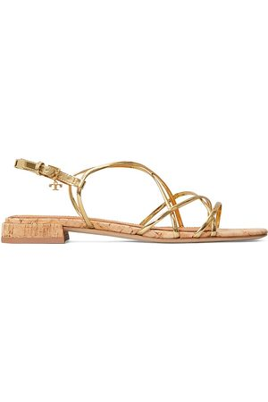 Tory Burch Women's Penelope Flat Metallic Slingback Sandals - - Size 8.5