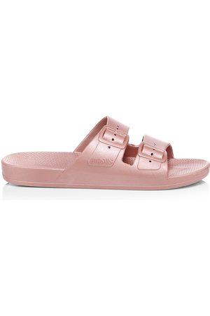 Freedom Moses Women's Metallic Plastic Pool Slides - - Size 40-41 (10-10.5) Sandals
